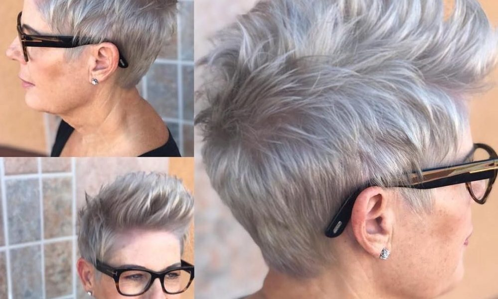Short gray hairstyles for women of all ages